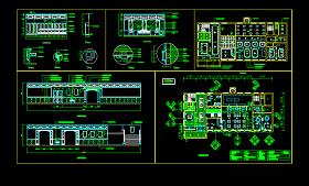中式餐厅CAD施工图