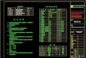 图纸目录 设计说明 图例及材料表