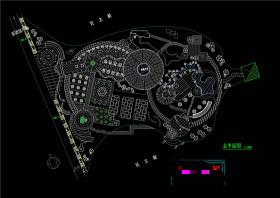民主湖公园设计方案CAD景观图纸
