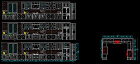 簡歐櫥柜cad設計方案下載