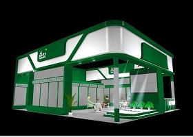 綠色特裝展位3Dmax模型設計