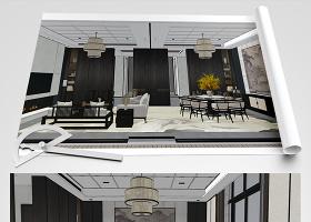 原创新中式别墅草图SU模型-版权可商用
