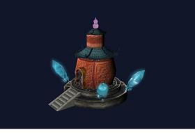 3DMAX魔法石房屋