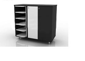 鞋架与鞋柜组合板式家具3dmax