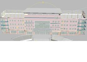 学校教学楼3DMAX模型源文件