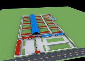 養殖場農場廠區3DMax模型建模
