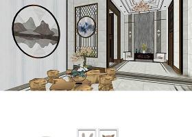 原创现代北欧日式LOFT工业风轻奢场景家具SU模型-版权可商用