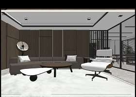 原創新中式家居SU模型-版權可商用