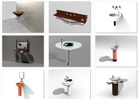 品牌家具3DMAX模型洗手池