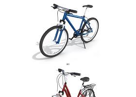 超精细的3DMAX交通工具模型-自行车