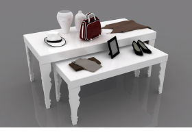 欧式高低置物桌子3d模型