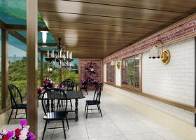 咖啡厅效果图3Dmax模型