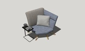 精品免费单人沙发SU模型下载 精品免费单人沙发SU模型下载