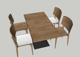 餐桌su模型下载 餐桌su模型下载