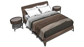 双人床 草图大师模型SU模型下载 双人床 草图大师模型SU模型下载