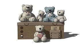 毛绒玩具 草图大师模型SU模型下载 毛绒玩具 草图大师模型SU模型下载
