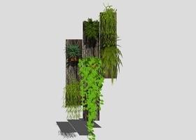 精品免费室内绿植墙装饰su模型下载 精品免费室内绿植墙装饰su模型下载