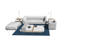 精品免費組合沙發SU模型下載 精品免費組合沙發SU模型下載