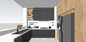 精品免費北歐風格廚房設計SU模型下載 精品免費北歐風格廚房設計SU模型下載