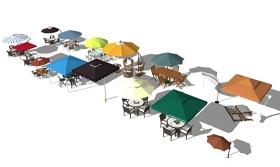 精品免费遮阳伞合集SU模型下载 精品免费遮阳伞合集SU模型下载