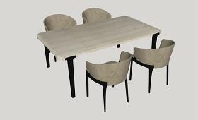 精品免費餐桌椅組合SU模型下載 精品免費餐桌椅組合SU模型下載