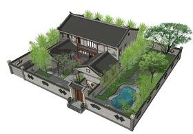 農村四合院+新農村住宅SU模型下載 農村四合院+新農村住宅SU模型下載