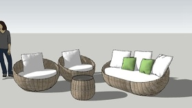 组合沙发 草图大师模型SU模型下载 组合沙发 草图大师模型SU模型下载