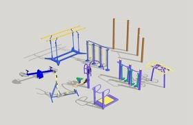 精品免費室外健身器材su模型下載 精品免費室外健身器材su模型下載