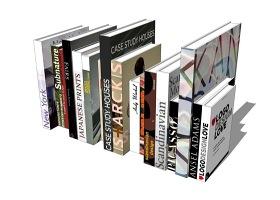 书籍摆设SU模型下载 书籍摆设SU模型下载
