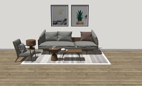 精品免费多人沙发SU模型下载 精品免费多人沙发SU模型下载