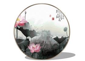 中式装饰画墙饰SU模SU模型下载 中式装饰画墙饰SU模SU模型下载