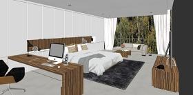 精品免费现代简约卧室设计SU模型下载 精品免费现代简约卧室设计SU模型下载