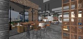 精品免费现代咖啡馆su模型下载 精品免费现代咖啡馆su模型下载