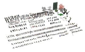 精品免费常用人物动物植物合集SU模型下载 精品免费常用人物动物植物合集SU模型下载