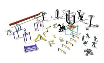 精品免费户外健身器械su模型下载 精品免费户外健身器械su模型下载