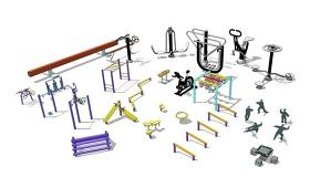 精品免費戶外健身器械su模型下載 精品免費戶外健身器械su模型下載