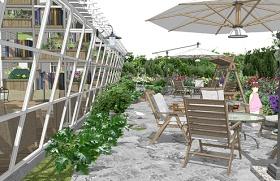 民宿花园书吧庭院景观SU模型下载 民宿花园书吧庭院景观SU模型下载