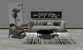 组合沙发SU模型下载 组合沙发SU模型下载
