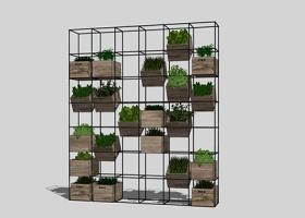 精品免费室内艺术花架盆栽组合su模型下载 精品免费室内艺术花架盆栽组合su模型下载
