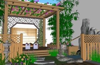 精品免费小庭院景观SU模型下载 精品免费小庭院景观SU模型下载