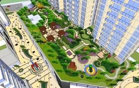 屋顶景观SU模型下载 屋顶景观SU模型下载