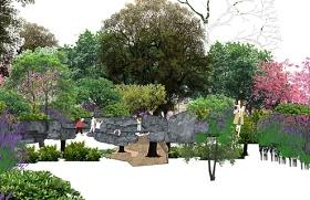 精品免费植物树灌木组合SU模型下载 精品免费植物树灌木组合SU模型下载