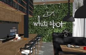 精品免费现代工业风咖啡屋室内设计SU模型下载 精品免费现代工业风咖啡屋室内设计SU模型下载
