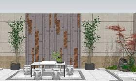 庭院景观SU模型下载 庭院景观SU模型下载