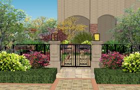 东方都市欧式庭院景观SU模型下载 东方都市欧式庭院景观SU模型下载