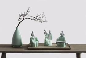 新中式侍女摆件 新中式摆件 花瓶 陶瓷摆件3D模型下载 新中式侍女摆件 新中式摆件 花瓶 陶瓷摆件3D模型下载