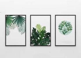 北欧绿植装饰画3D模型下载 北欧绿植装饰画3D模型下载