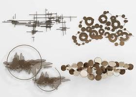 新中式金属墙饰挂件组合3D模型下载 新中式金属墙饰挂件组合3D模型下载