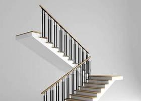 現代樓梯鐵藝護欄3d模型下載 現代樓梯鐵藝護欄3d模型下載