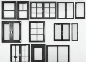現代實木窗戶組合3D模型下載 現代實木窗戶組合3D模型下載